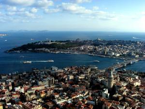Reisetipps Istanbul: Touristenmagnet Istanbul Blick vom Helikopter auf die historische Altstadt.