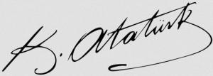 Mustafa Kemal Atatürks Unterschrift