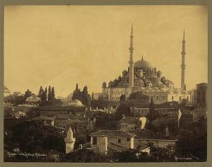 Fatih Moschee im Jahre 1880 ( Osmanisches Reich)
