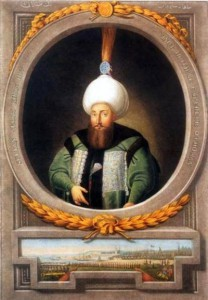 Portrait Sultan Selim III. * 24. Dezember 1762; † 28. Juli 1808