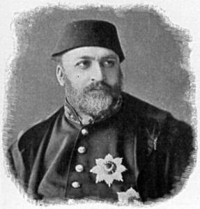 Sultan Abdulaziz (* 8. Februar 1830 in Istanbul; † 4. Juni 1876 im Çırağan-Palast)