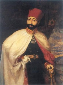 Sultan Mahmud II., nach seiner Kleiderreform 1828