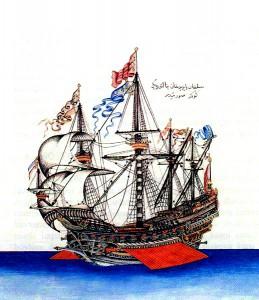 Flaggschiff, das Bayezid II. sandte, um die Juden aus Spanien zu retten