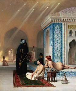 Phantasien europäischer Künstler: Bad in einem Harem Jean Léon Gérôme ca. 1876