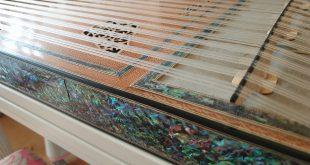 Türkische Musiktherapie: Kanun. Ansicht von oben