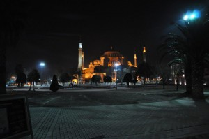 Hagia Sophia Church Night