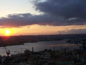 Sonnenuntergang Galata Istanbul
