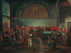 Jean Baptiste Vanmour (1671 - 1737)- Dinner at the Palace in Honour of an Ambassador - Google Art Project