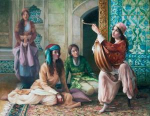 Harems Dame lehrt die Oud