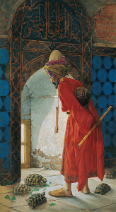 Der Schildkrötenerzieher (1906) von Osman Hamdi Bey Kaplumbağa Terbiyecisi