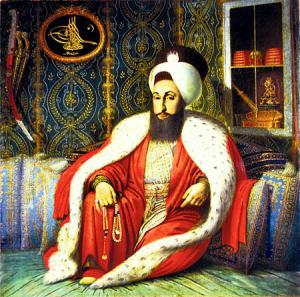 Sultan Selim III in Audience. from Konstantin Kapidagli 18. -19. Jh