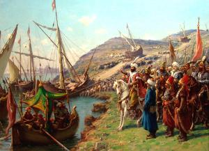 Mehmed II at the siege of Constantinople from Fausto Zonaro  (1854–1929)