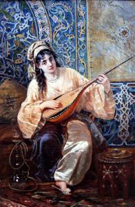 Valide Sultanı Hanım Sultan İkbal playing Music